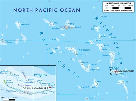 islands map physical map of marshall islands ezilon maps