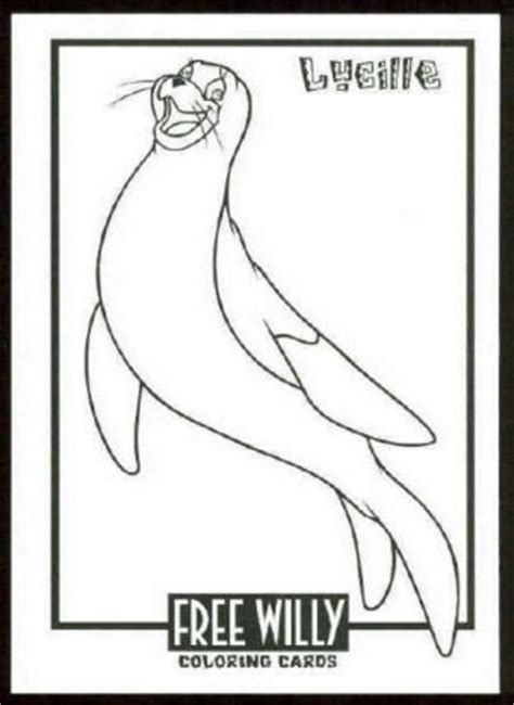 coloring pages of free willy free willy coloring card cc4 lucille