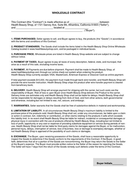 terms of agreement contract template references letter
