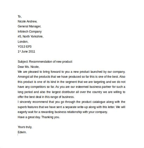 Business Letter Template Business Letter Format 9 Free Sles Exles Format