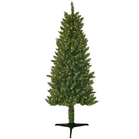 general foam 6 ft pre lit slender spruce artificial