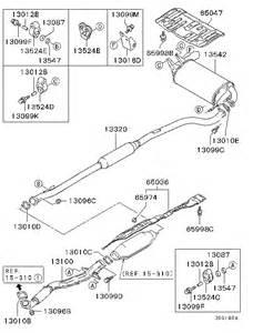 Mitsubishi Outlander Exhaust System Diagram Spare Parts Mitsubishi Parts Directory