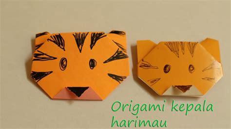 membuat origami sederhana untuk anak paud cara membuat origami kepala harimau untuk anak paud tk sd