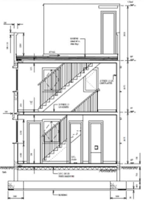 How To Draw Sections In Architecture by Architectural Drawings Small House Designs