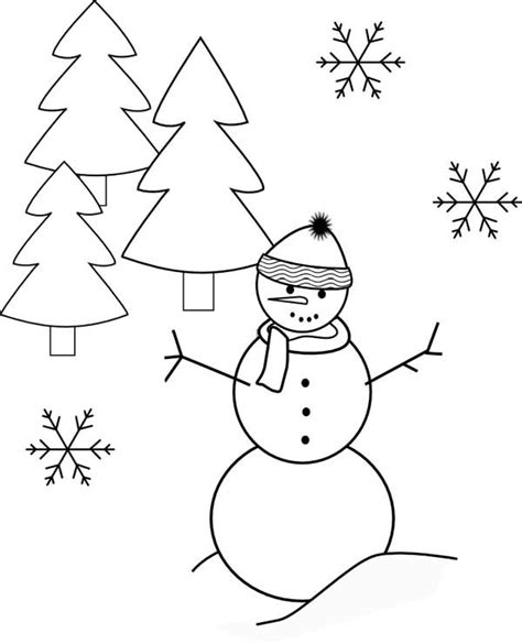 Tree And Snowman Coloring Pages 17 Best Images About Coloring Pages For Kids On Pinterest by Tree And Snowman Coloring Pages