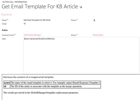 Working With Email Templates In Unified Service Desk Microsoft Dynamics Crm Unified Service Desk From The Desk Of Email Template