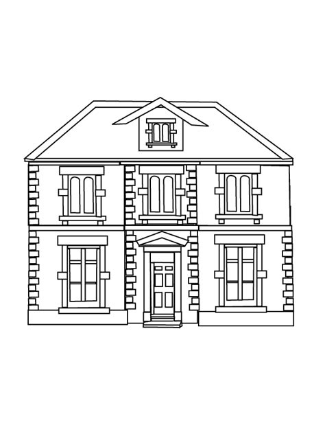 house prints free printable house coloring pages for kids