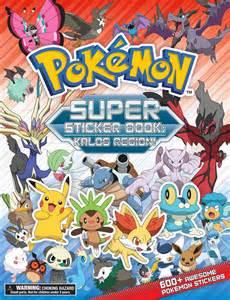 pokemon super sticker book kalos region book pikachu press official publisher