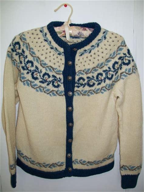 knitting pattern norwegian sweater foldal vintage hand knit norwegian wool cardigan sweater
