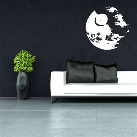 star wars death star vinyl wall art sticker room decal