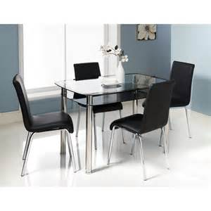 cream leather dining chairs and glass table collections