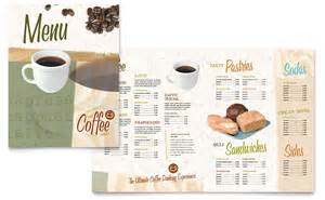coffee shop menu template word publisher