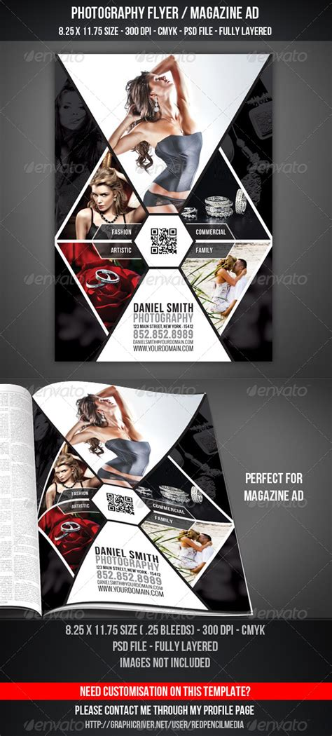 advertising magazine template photography flyer magazine ad by redpencilmedia