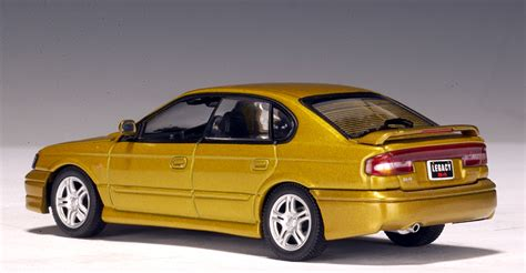 gold subaru legacy autoart 1999 subaru legacy b4 gold 58611 in 1 43