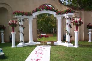 Wedding Arches And Columns For Sale White Colonnade Wedding Arch All Seasons Rent All