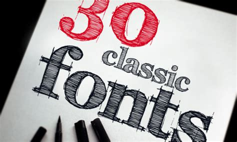 30 Classic Fonts Every Designer Should Own Illustrator Classic Font