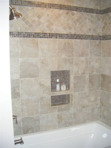 glass tile border bathroom ideas glasses