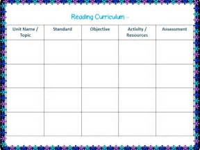 Curriculum Map Template by Back Into 6th Grade Templates Printables