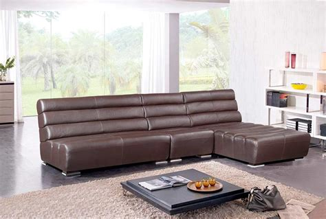modern brown leather couch modern brown leather sectional sofa vg996 leather sectionals