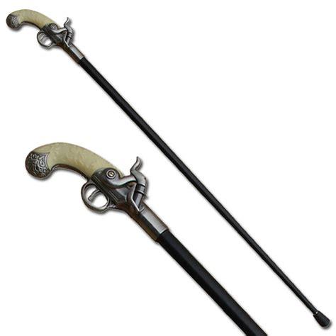 sword walking canes pistol sword antique gun handle walking sword