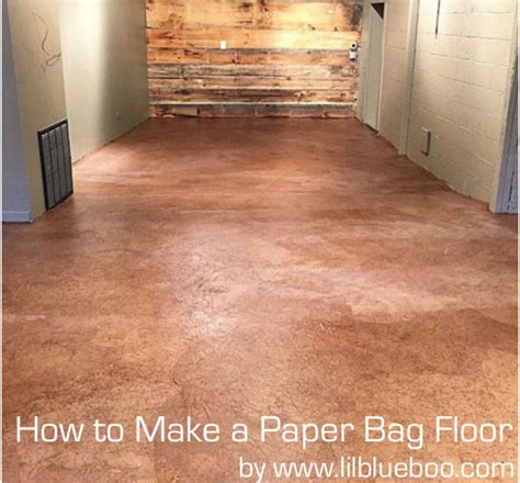 How To Use A Floor by How To Make A Paper Bag Floor Diy