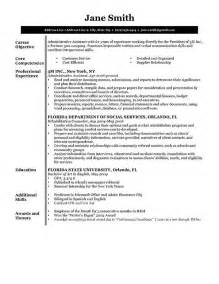 Resume Layout Exles by Free Resume Sles Writing Guides For All