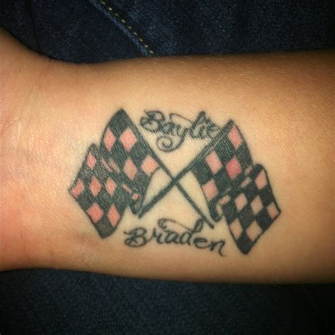 racing flag tattoo designs pin by matalie williams on tattoos
