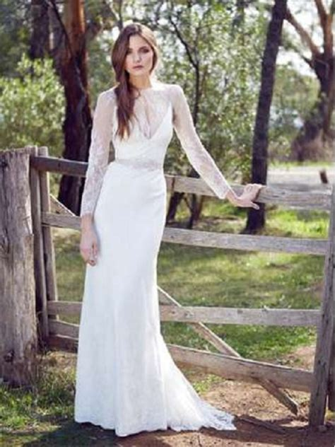 wedding dresses causal casual wedding dresses with sleeves