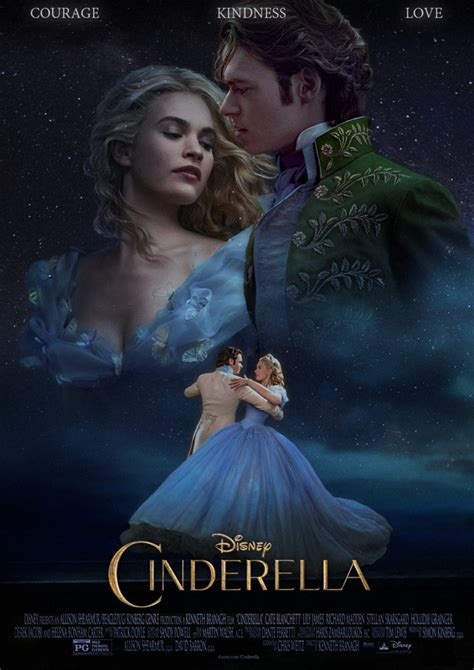 film about cinderella cinderella 2015 courage kindness love poster by