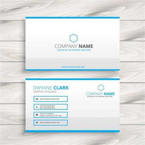 Simple Business Card Website Template by Simple Business Card Template Vector Free