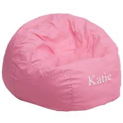 Personalized Bean Bag Personalized Oversized Solid Light Pink Bean Bag Chair Dg