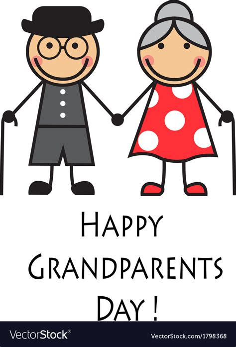 clipart pictures happy grandparents day royalty free vector image