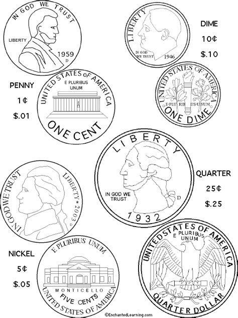 coin template coin coloring pages world coins collecting