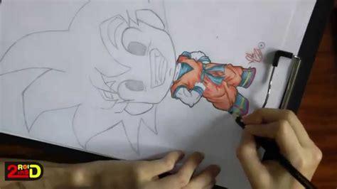 imagenes kawai de goku 描いてみた speed coloring kawaii chibi goku youtube