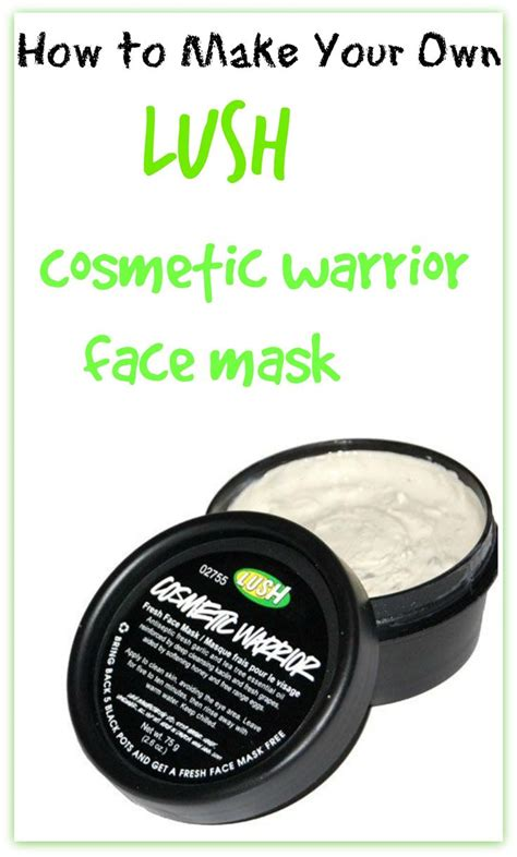 lush masks diy how to make your own lush cosmetic warrior mask jars how to make your and in a jar