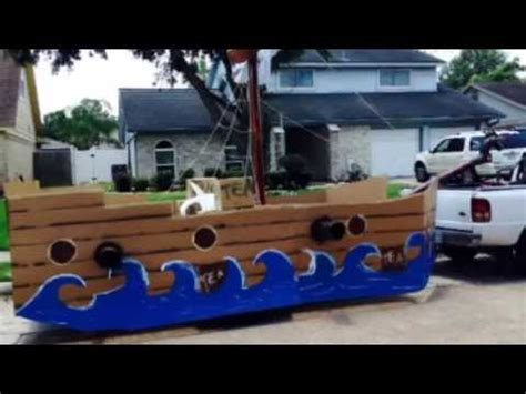 Boat Barn Plans 4th Of July Float 2014 Pirate Ship Tea Party Youtube