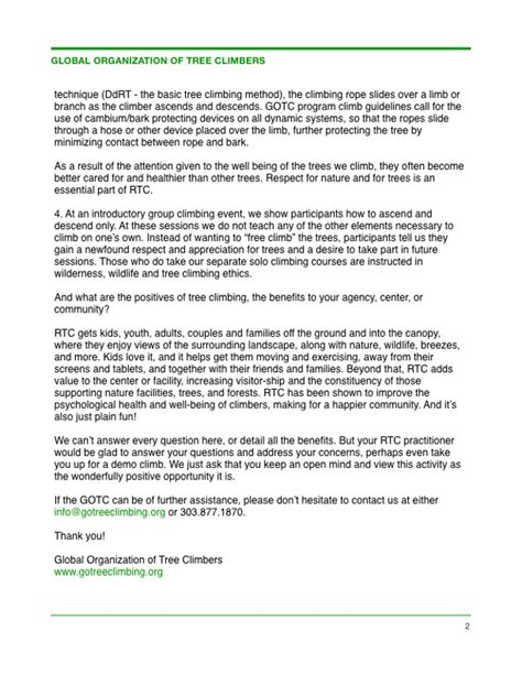 Recommendation Letter For Facilitator Letter Of Recommendation Global Organization Of Tree Climbers