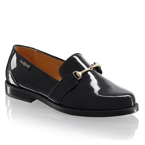 and bromley patent loafers snaffle loafer in black patent bromley
