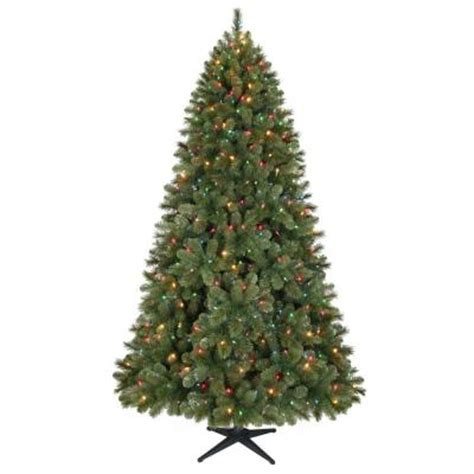15 ft pre lit led wesley pine artificial christmas tree home accents 7 5 ft led pre lit wesley pine artificial tree with multi color