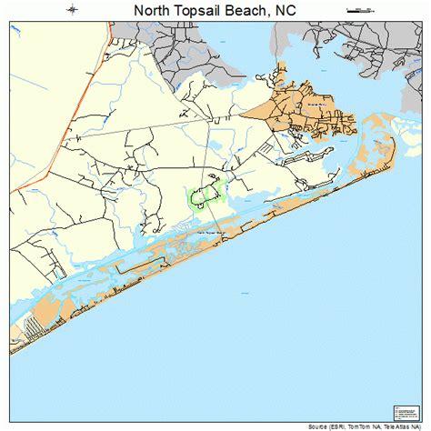 topsail carolina map topsail carolina map 3747845