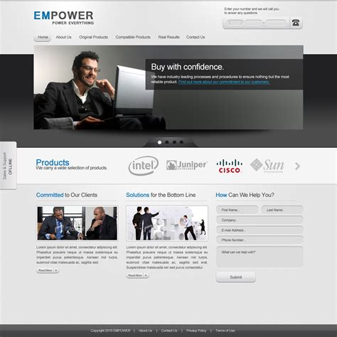 corporate template empower corporate website template free psd ahmad