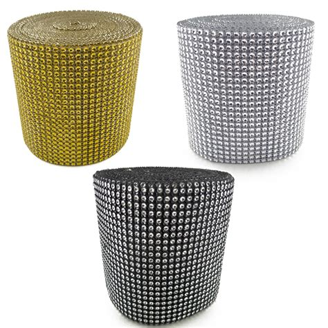 Bling Wrap For Vases by Gold Silver Mesh Wrap Roll Sparkle Rhinestone Ribbon Bling Decor Ebay