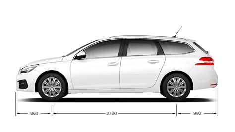 dimensions peugeot 308 new peugeot 308 sw technical and engine specifications