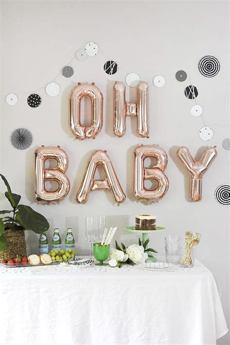 Woodland Themed Baby Shower Decorations by Best 25 Baby Shower Balloons Ideas On Baby