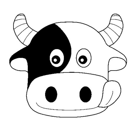 cow head for coloring book coloring pages