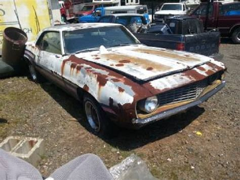 rusty muscle car craigslist find rusty 69 camaro with an optimistic