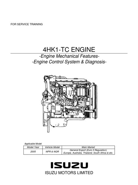 npr manual y diagrama motor isuzu 729 4hk1 training pdf