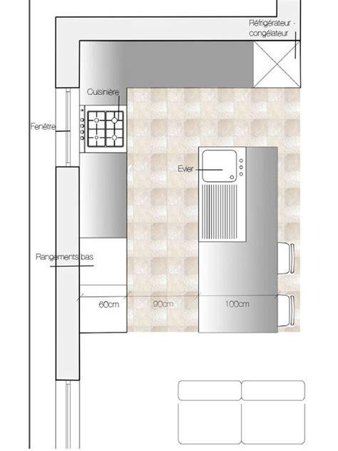 Plan De Cuisine Moderne by Plan Cuisine Avec 238 Lot Central Deco Plan