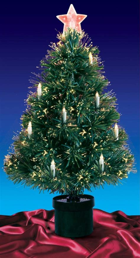 3 ft fiber optic xmas tree 3 foot fiber optic trees