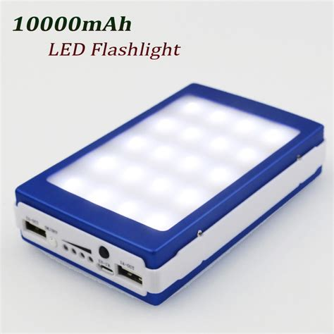 Power Bank Solar 60000mah solar power bank 10000mah portable cargador solar energy led light external battery mobile phone